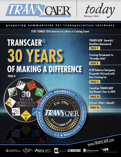 TRANSCAER Today Winter 2016 Cover